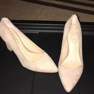 Franco Sarto Beige pointed toe heels